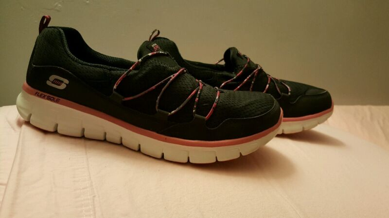 Skechers Memory Foam Athletic Shoes (Size 11, Pink/Black) Synergy 12012BKHP