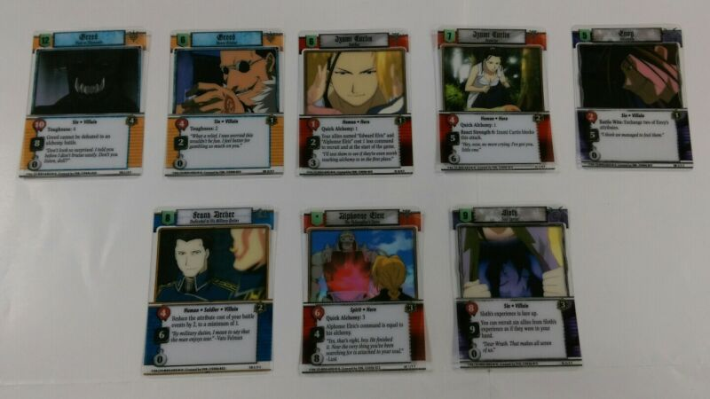 Fullmetal Alchemist TCG Trading Card Game Special CLEAR CARD SET! EXTREMELY RARE