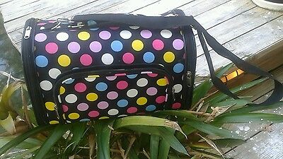 Poka Dot Pet Carrier 4 compartments & Comfort Pillow Puppy Dog Kitty Cat Travel