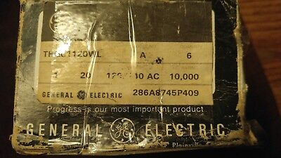 Ge General Electric Thqc1120wl Circuit Breaker 1 Pole 20 Amp Box Of 6 Used