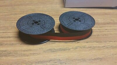 New Universal Typewriter Black And Red Ribbon Twin Spool 12 Inch Free Shipping