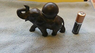 VINTAGE FIGURAL MEDIUM ELEPHANT LIGHTER