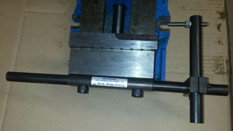 "Mill Vice Work Stop, Modular Design, Fits Most 6"" Kurt type Milling Vices."