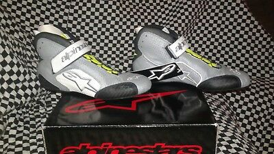Alpinestars Tech 1-Z Driving Shoe FIA//SFI 2715115-1241-11 Black//White//Orange 2019 Model Size 11