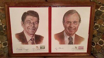 Inauguration Day 11x14 Ronald Reagan and George H. Bush signed ~ Jan. 20, 1981