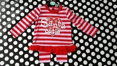BNWT Baby girls Christmas Santa outfit tutu top/leggings red/pink 3-6 months UK Baby Santa-outfit