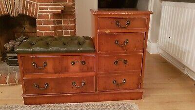 Vintage seat drawer cupboard