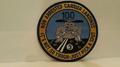 Navy  No Arrested Carrier Landing Color Cloth Patch 4 x 4 inches