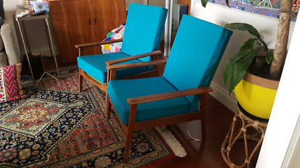 Vintage mid century arm chairs