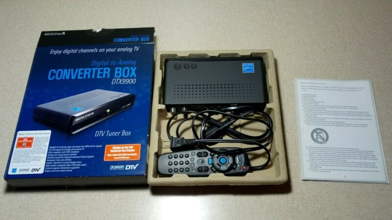 Digital Stream DTX9900 Analog TV Converter Box DTV Tuner Remote