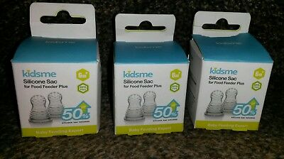 Kidsme Silicone Sac for Food Feeder Plus Bundle  3 x Packs of 2   6 months +