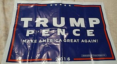 Donald Trump Mike Pence Official 2016 President Campaign 2 Sided Yard Sign New