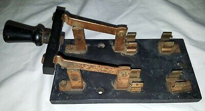 Large Vintage Trumball Knife Switch Frankenstein Switch 60 Amp Copperstone