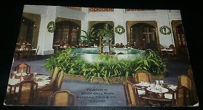1911 Fountain South Grill Room, Marshall Field Store Chicago Illinois Postcard