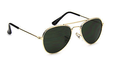 Toddler Aviator Sunglasses Gold Vintage Retro Designer Fashion