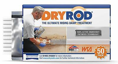 DRYROD DAMP PROOFING RODS BOX OF 10/50 RISING DAMP TREATMENT BBA