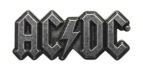 AC/DC Metal Pin Gunmetal - Music Band Hat Lapel Badge Licensed