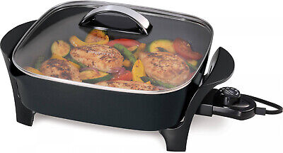 Presto NEW 12 Electric Skillet with Glass Cover with Stay-Cool Handle