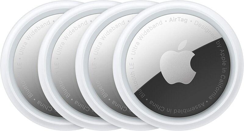 Apple AirTag Tracker 4-Pack, MX542AM/A - White
