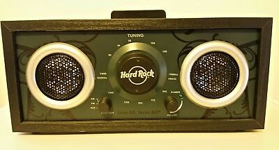Hard Rock Cafe MP3 Retro Vintage Radio iPod MP3 Dock - NEW Free Shipping!