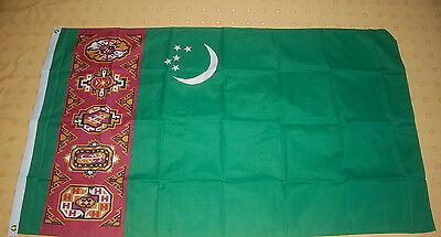 Turkmenistan Fahne Flagge Hißflagge Hissfahne 150 x 90 cm