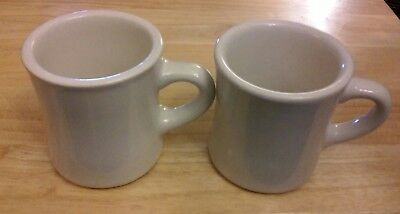 (VINTAGE WORLD ULTIMA CHINA HEAVY CERAMIC RESTAURANT DINER STYLE MUGS CUPS)