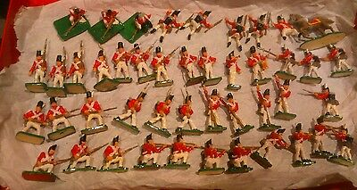 VINTAGE JOBLOT 1/72nd 20mm NAPOLEONIC AIRFIX BRITISH INFANTRY WATERLOO PAINTED