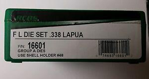 RCBS FL 2 Die Set for 338 Lapua, #16601, NIB,Rifle Reloading Dies