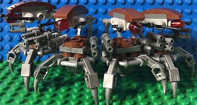 Lego Star Wars Lot of 4 Droidekas Sniper Droids Destroyer Droid 75000