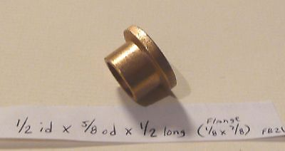 Oilite Flange Bushing Bronze 12 Id X 58 Od X 12 Brass Bearing Bush Sleeve F21