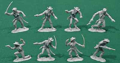 Jean Hoefler 8 Dismounted C.S.A. Cavalry in 8 poses - 60mm plastic toy soldiers
