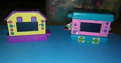 Pixel Chix Lot Of 2 Mattel Condo Houses Puppy Hamster Yellow Interactive Pet EUC
