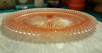 "Anchor Hocking Miss America Pink Depression Glass 12"" Serving Platter"