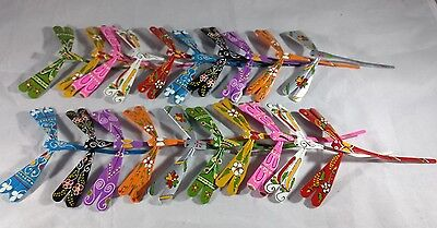 Wooden Balancing Dragonflies toy Lot of 20