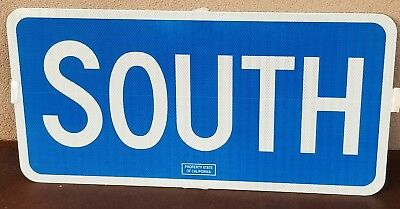Mint South Aluminum California Caltrans Highway Retired Sign 30  X 15