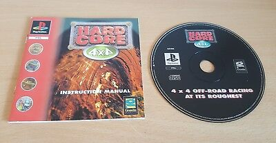 HARD CORE 4 x 4. Sony PlayStation 1. Ps1 game. Disk + manual only. for sale  Shipping to Nigeria