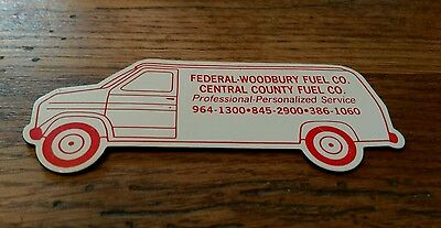 Vintage Federal Woodbury Central County New Jersey Fuel Company Service Magnet