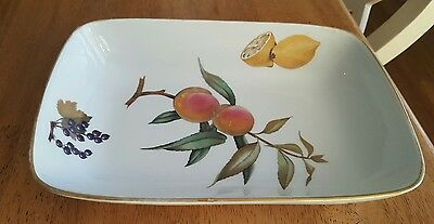 Royal Worcester 1961 Gold Evesham  Rectangle Serving Baking Dish