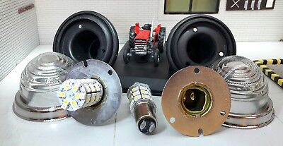 Mf Massey Ferguson 135 Lucas Combined Led Sidelight Indicator Glass Lens Set