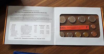 DM Kursmünzensatz Deutschland 2001  / Prägestätte F