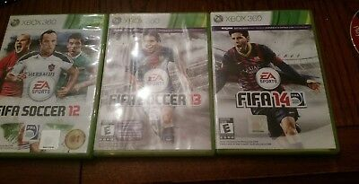 FIFA Soccer Game Collection Bundle Lot 12/13/14 Xbox 360 3 Games Best Deal!!