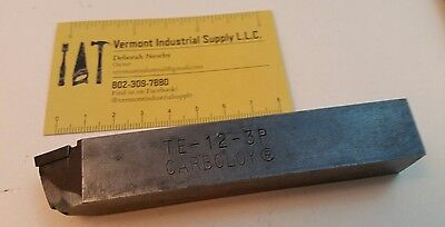Carboloy Te-12-3p Lathe Turning Tool Mill Drill Carbide Insert