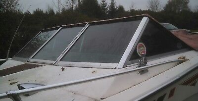 COMPLETE WINDSHIELD FROM  1976 MARK TWAIN CLOSED BOW BOAT PARTING OUT