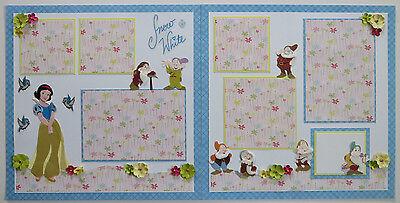 Premade Disney (2)12x12 Scrapbook Pages/Layout - Snow White & The 7 Dwarfs