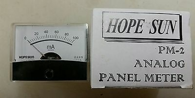 Newhope Sun 0-100ma Analog Panel Meter