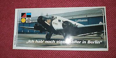 LUFTHANSA - 750 Jahre Berlin 1987 - Aufkleber / Sticker