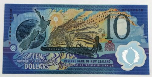 NEW ZEALAND 2000 . 10 DOLLARS BANKNOTE . MISPRINT . MIS-MATCH SERIALS