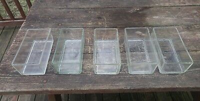 Slide Staining Dishes Wheaton Lipshaw Pyrex For Rack Of 50 Slides