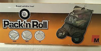 Black Pack N Roll by Mundi Travel Luggage Garment Suit Roll-Up Duffel Bag