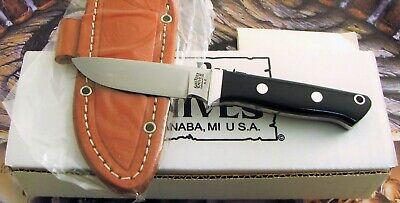 Bark River Knives Huntsman Knife Black Canvas Micarta MIB With Sheath NO RESERVE